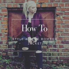 How to style a bomber jacket Keep Up, About Me Blog, Bomber Jacket, Neon Signs, Jackets, Style, Down Jackets, Swag, Bomber Jackets