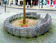 Inovadores Bancos de parque urbano: Mesas externas