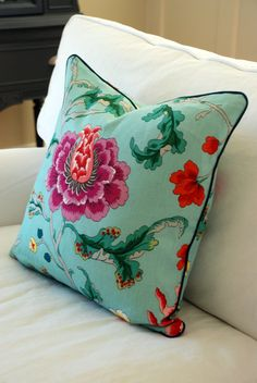 Brunschwig and Fils Athos Pillow Covers by Modern Coastal Interiors