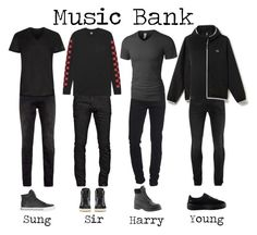 """""""Flat Line performing their debut song """"She's Mine"""" at Music Bank"""" by flat-line-official ❤ liked on Polyvore featuring Topman, Dsquared2, Lacoste, True Religion, HUF, Alexander McQueen, Pierre Cardin, LE3NO, Supra and Yves Saint Laurent"""