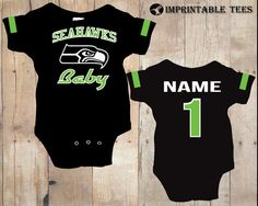 Football Seattle Seahawks Bodysuits by ImprintableTees on Etsy, $20.00
