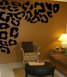 Cheetah Print But Different Wall Color