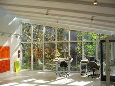 Art Studio - contemporary - home office - dc metro - Bennett Frank McCarthy Architects, Inc. Art Studio Design, Art Studio At Home, Home Art, Design Design, Design Ideas, Office Interior Design, Office Interiors, Interior Ideas, Contemporary Office