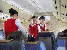 Air Koryo Ilyushin IL62 inflight service has started