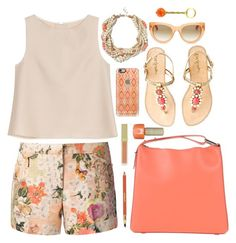 """Coral & Tan"" by youaresofashion ❤ liked on Polyvore featuring Tory Burch, 3.1 Phillip Lim, ADAM, Lilly Pulitzer, Banana Republic, raen, Casetify, Sisley, AERIN and Radstudio!"