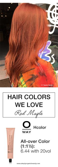 Hello, fall hair color! Red Maple Hair Color with #Oway #Hcolor looking oh, so autumnal!