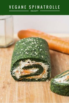 Vegan vegetable roll with spinach is a healthy and tasty recipe, which . - Vegan vegetable roll with spinach is a healthy and tasty recipe that is easy to make. Healthy Appetizers, Appetizer Recipes, Healthy Snacks, Vegtable Appetizers, Fingerfood Recipes, Food Intolerance, Greens Recipe, Clean Eating Snacks, Eating Healthy