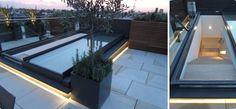 SlideGlaze sliding rooflight - perfect for roof terrace access.  #SlideGlaze