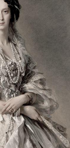 Franz Xaver Winterhalter. Portrait of Empress Maria Alexandrovna (cropped).