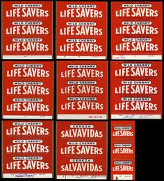 Life Savers - Master Roll Wrapper page - Wild Cherry - 1960's by JasonLiebig, via Flickr