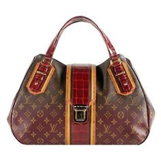 b741e8ffb62710 Pre-Owned Louis Vuitton Limited Edition Monogram Mirage Griet Exotique  Satchel Handbag Purse Brown/Multi/Red