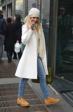 Michelle Hunziker in Fur Coat 06 | GotCeleb