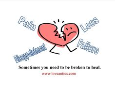 Why Does it Hurt So Bad? Getting to the Root of Your Pain in Life.  Sometimes you need to be broken to heal.  Check out the post: http://www.loveantics.com/why-does-it-hurt-so-bad/