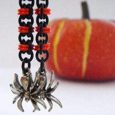 Halloween Spider Earring Kit- Twist of Fate Chainmaille. $18.00, via Etsy.