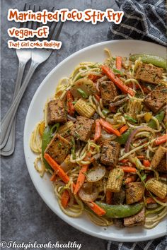 Learn how to make this delicious vegan, low carb, gluten free tofu recipe. Smoked tofu is marinated to yield more depth in flavour then pan fried and tossed with stir fried vegetables/zoodles. This is definitely a vegan dish that is filling, low carb and flavoursome. Tempeh Recipes Vegan, Healthy Cooking, Healthy Eating, Tofu Stir Fry, Marinated Tofu, Fried Vegetables, Vegetable Stir Fry, Vegan Dishes, Plant Based Recipes