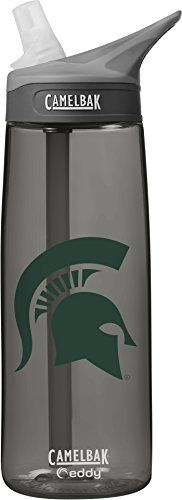 NCAA Michigan State Spartans Unisex CamelBak Eddy 75L Collegiate Water Bottle CHARCOAL 75 Liter * Read more  at the image link.