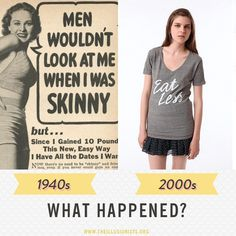 Nothing happened. Women still feel pressured to change the way they look as a result of the standards men set (and everybody perpetrates). The only difference is the TYPE of figure being sought after.