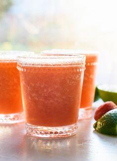 Frozen Strawberry Margaritas.