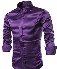 Abetteric Men Long Sleeve Gold Velvet Print Fall /& Winter Fitted Shirts