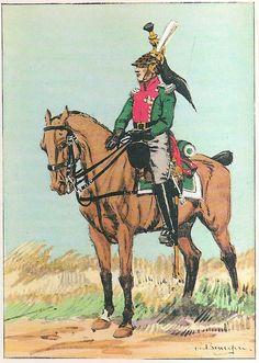 French; 12th Dragoons, Le Colonel, Tenue de Campagne, 1814