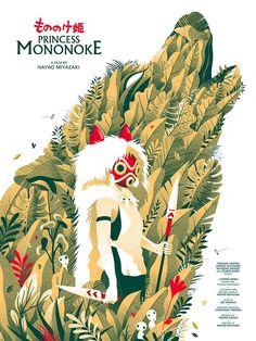 Princess Mononoke, by Guillaume Morellec