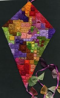 Isn't this awesome???  I don't know who made it...but it is really cool.  A Kite quilt...very creative!