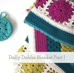 {A Crochet Recipe: a rough guide on how to produce a crochet item, as  opposed to a proper pattern which involves more maths than the designer had  brain cells for at the time of casting on} Find the first set of  instructions on how to make your own, slightly off-kilter Dally Dahlia  Blanket here...