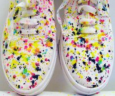 """paint splatter--even I could do this. """"In my day, sonny, we'd be angry that we spilled paint on our shoes!"""""""