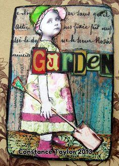 Garden (daily inspiration card) by constancetaylor, via Flickr