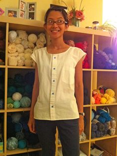 blouse 1 from men's shirt - very simple cutting so might meet the requirements of your assignment !