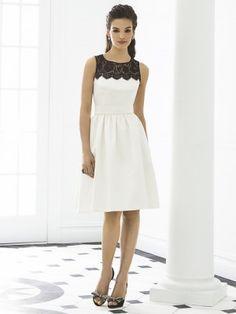 Weiß A-line/Princess Schlägereau-Kragen Knee-length Satin Bridesmaid Kleiden für 360,86€