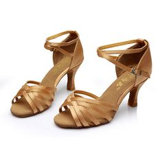 New Women Adults Ballroom Party Latin Dance Shoes Heeled 5cm/7cm Tango Salsa Shoes Indoor Dancing Heels