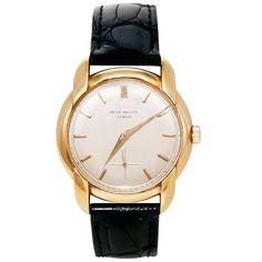PATEK PHILIPPE Yellow Gold Wristwatch with Fancy Lugs Ref 2536  Switzerland  1950s