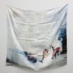 ANDREI KOSCHMIEDER  Untitled #4 (Burn Out series), 2010  Inkjet print on silk scarf  90 x 90 cm
