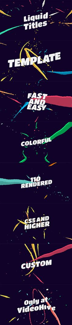 Liquid Animation Titles by motionvids | VideoHive