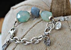 Blue Green Chalcedony  Gemstones Sterling Silver by dooglelinhk