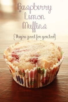 Raspberry Lemon Muffins {Shh! They're healthy!} - A Mouse In My Kitchen