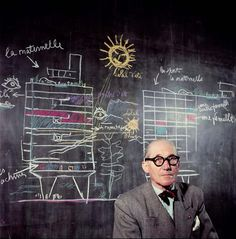 "Le Corbusier - a pioneer of modern architecture, his contributions to urban planning, the use of modular proportion / golden ratio in design, and principles supported by Villa Savoye.  ""A house is a machine for living in"""