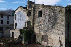 Mural de Vhils en Niort, Francia