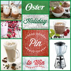 To celebrate the season, we're giving you a chance to win a Oster® Beehive Blender! To enter our Holiday Pinterest sweepstakes, visit http://on.fb.me/1Ao902I to pin your favorite holiday recipe from our collection. Sweepstakes ends 12/31/14. #Oster #blender #holiday #recipe #pintowin #sweepstakes