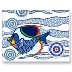 Aboriginal Dot Art Fish-01