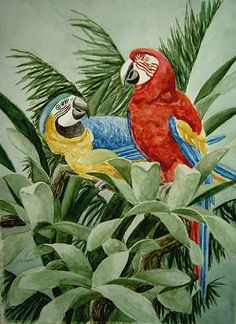Elizabeth Cereby parrot painting
