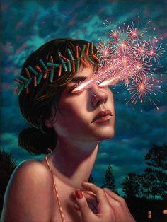 """Firecracker"" by Issue 005 #beautifulbizarre featured artist Casey Weldon"