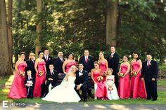 bright pink bridesmaid dresses #weddings #summerwedding #brightpink