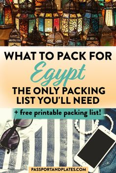 Planning a trip to Egypt? This Egypt packing list includes everything you'll need to pack no matter what the season, plus a guide on what to wear in Egypt! Packing List For Travel, Packing Hacks, Packing Lists, Packing Ideas, Traveling Tips, Budget Travel, Egypt Travel, Africa Travel, Places To Travel