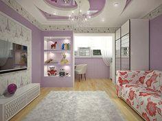 Дизайн детской проект для девочки Париж