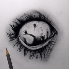 Image via We Heart It https://weheartit.com/entry/157189613 #dark #draw #eye #life #love #scary