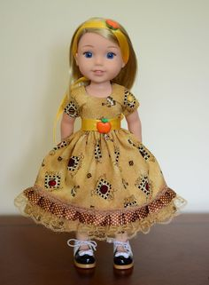 """""""Autumn Flavors"""" Dress, Outfit, Clothes for American Girl Wellie Wishers…"""