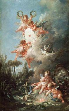 François Boucher - Cupid's Target, from 'Les Amours des Dieux'