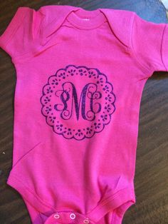 b74f308e7ea Baby+monogrammed+Onsies+by+Craftylilthang+on+Etsy